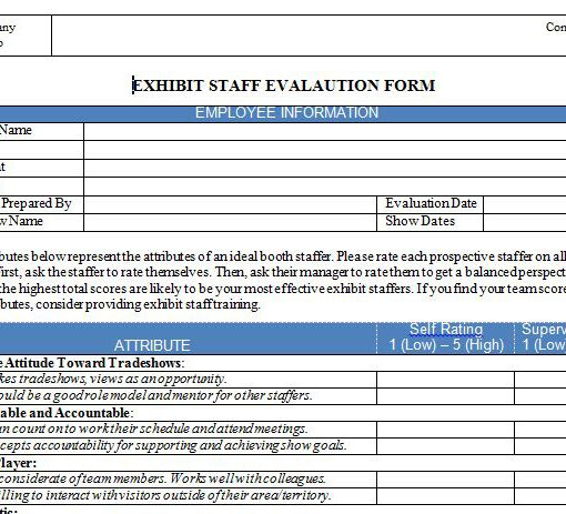 Exhibit Staff Evaluation Tool